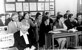 Второе координационное совещание по подготовке межобластных сборников документальных материалов. Первая слева Д.С. Цыбыктарова. 13-15 июля 1961 г.,г. Хабаровск. (ГАХК. Ф. Ф-3. Оп. 3. Д. 3)