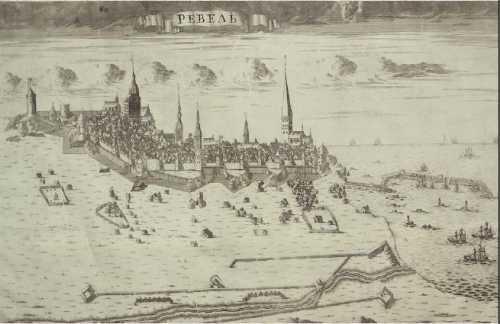 XVIII в. Панорама города Ревеля. ГИМ