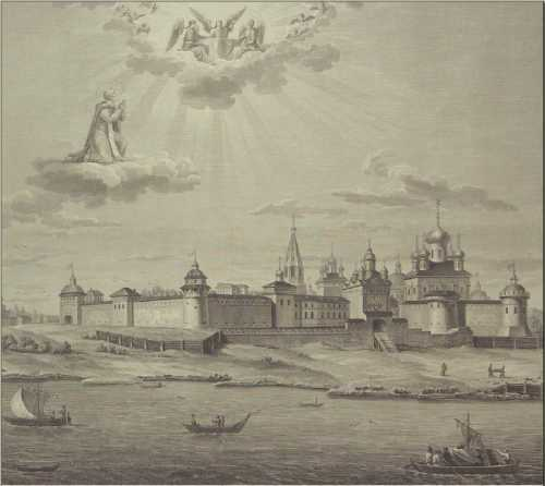 1816г. Вид Макарьевского Желтоводского монастыря. Гравюра М. Воробьева